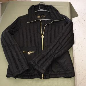 Black Michael Kors packable down jacket size M